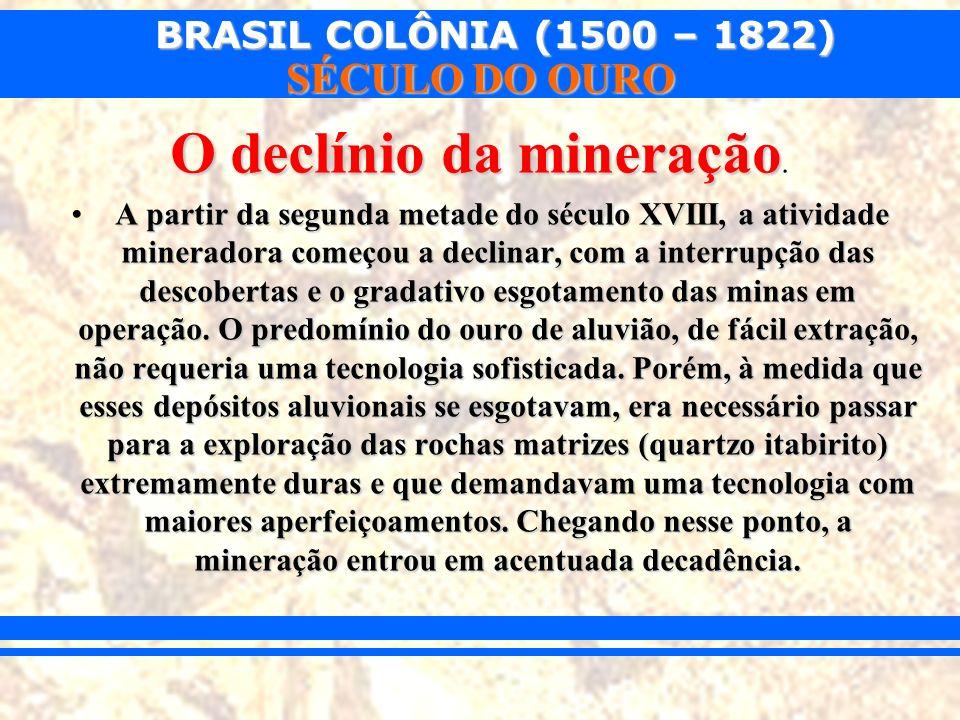 O declínio da mineração.