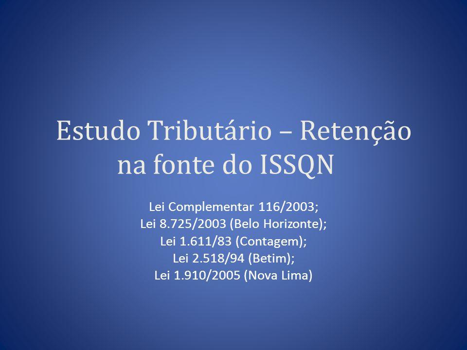 Estudo Tributário – Retenção na fonte do ISSQN