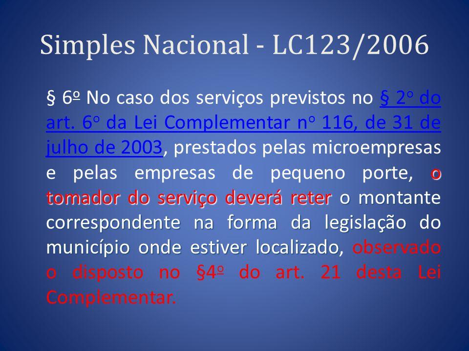 Simples Nacional - LC123/2006