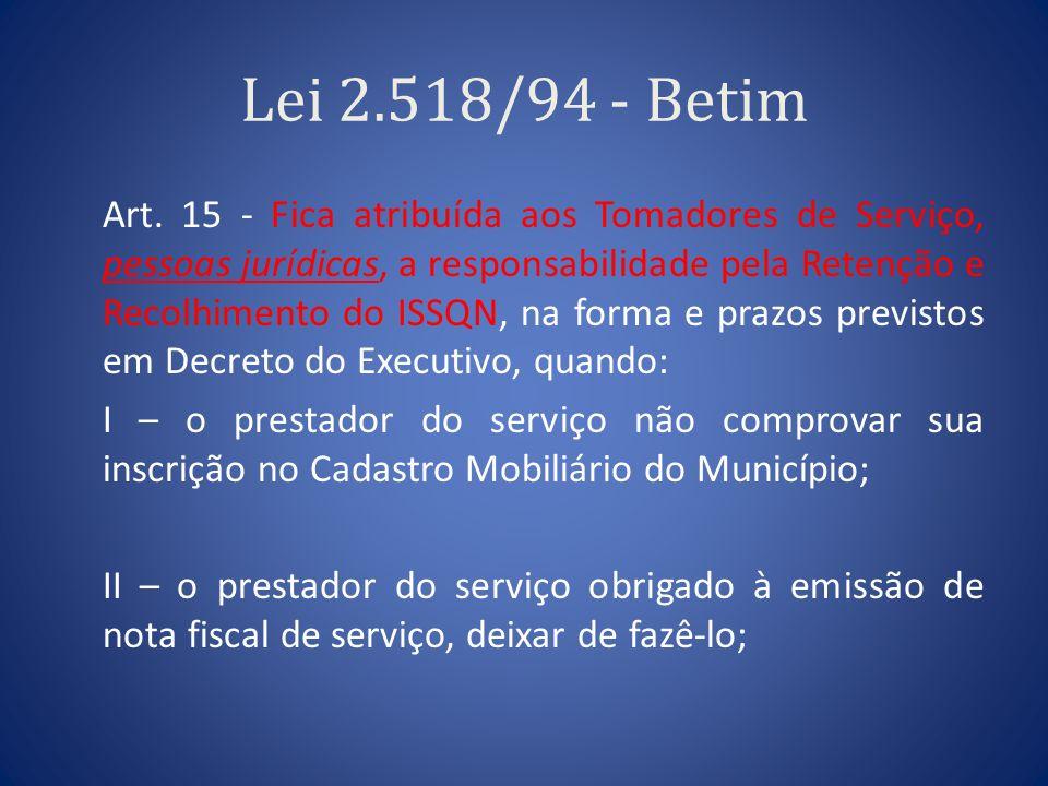 Lei 2.518/94 - Betim