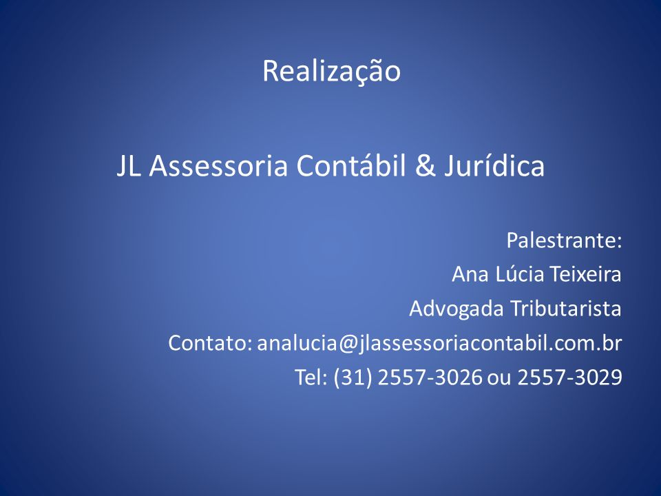 JL Assessoria Contábil & Jurídica