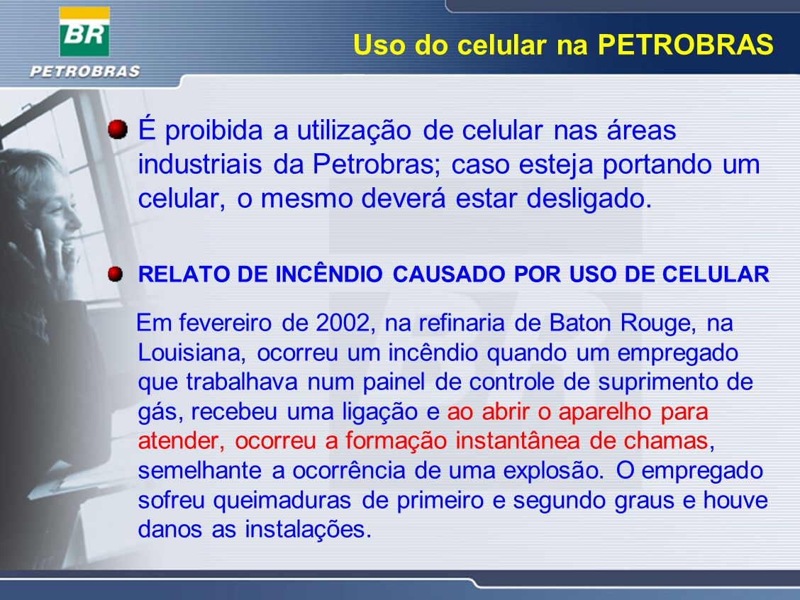 Uso do celular na PETROBRAS