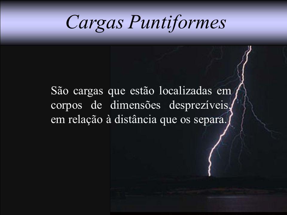 Cargas Puntiformes São cargas que estão localizadas em corpos de dimensões desprezíveis, em relação à distância que os separa.