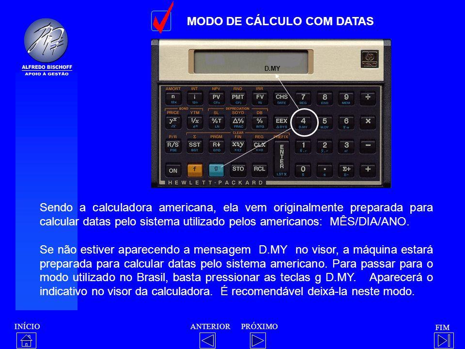 MODO DE CÁLCULO COM DATAS