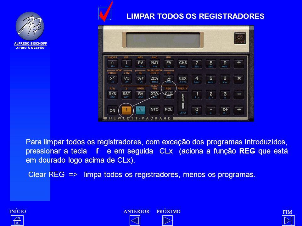 LIMPAR TODOS OS REGISTRADORES