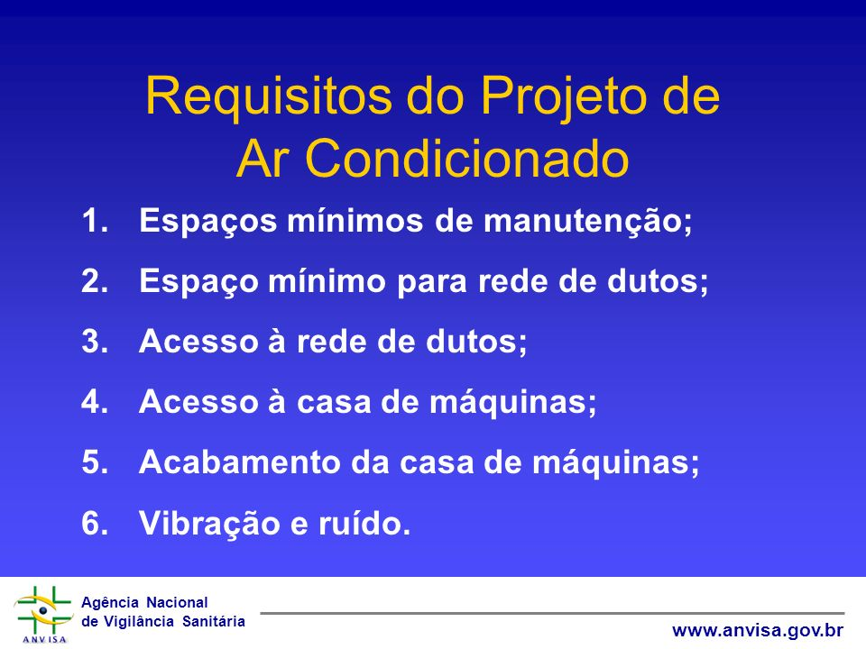 Requisitos do Projeto de Ar Condicionado