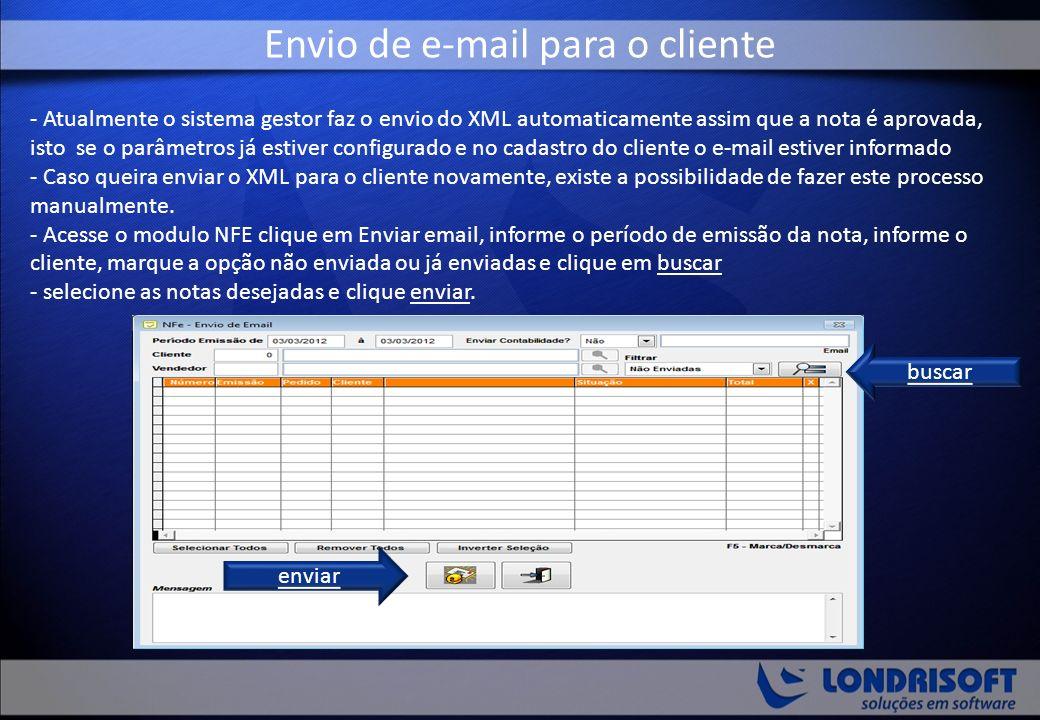 Envio de e-mail para o cliente