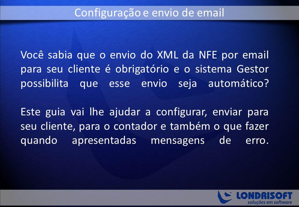 Configuração e envio de email