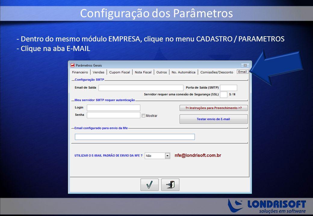 Configuração dos Parâmetros
