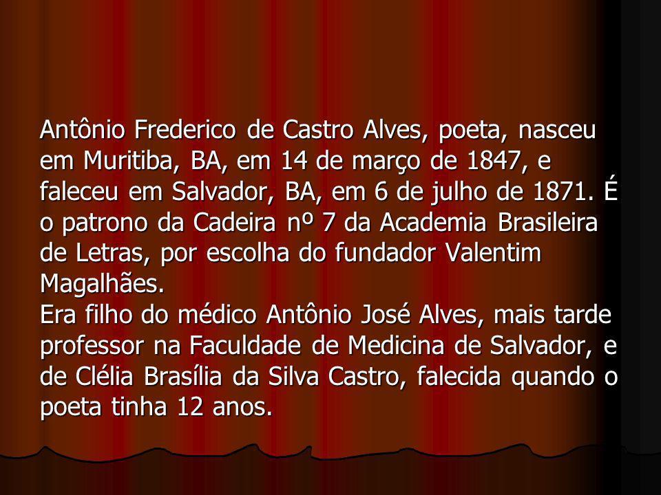 Antônio Frederico de Castro Alves, poeta, nasceu