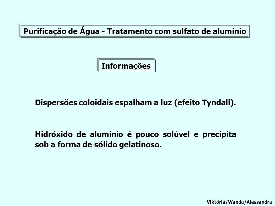 Purificação de Água - Tratamento com sulfato de alumínio
