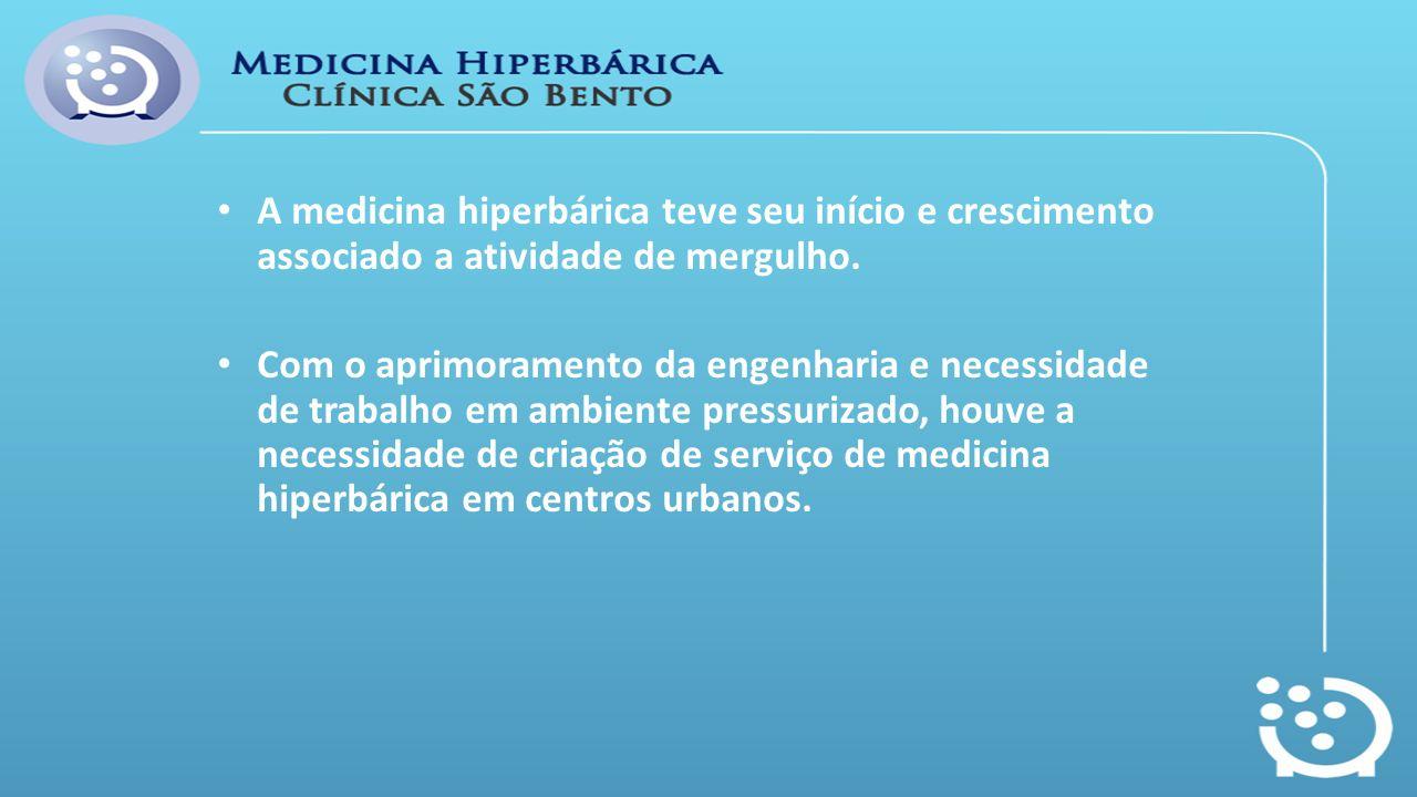 A medicina hiperbárica teve seu início e crescimento associado a atividade de mergulho.