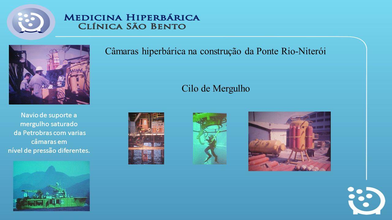 Câmaras hiperbárica na construção da Ponte Rio-Niterói