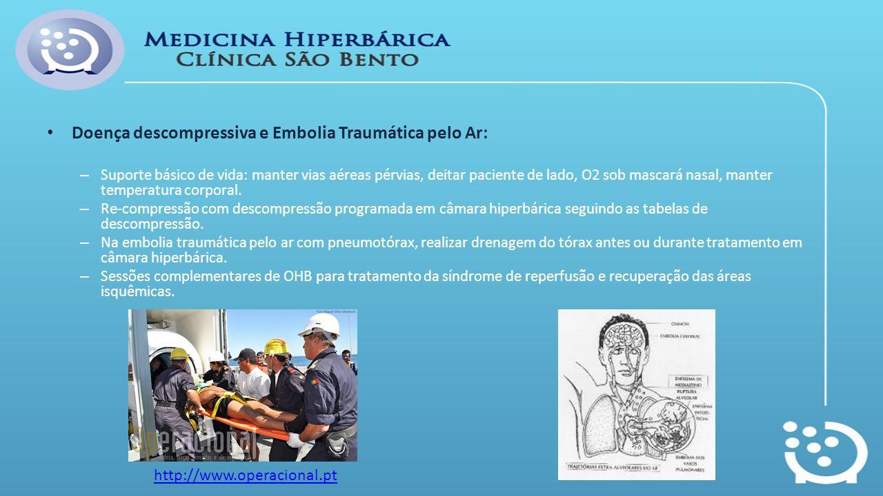 Doença descompressiva e Embolia Traumática pelo Ar: