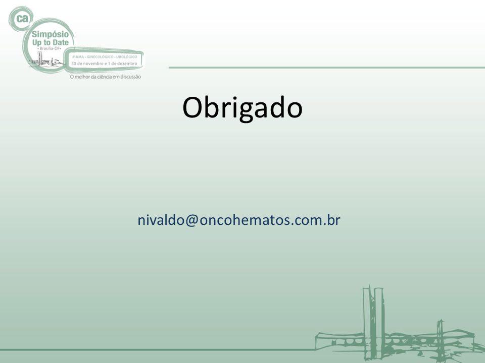 Obrigado nivaldo@oncohematos.com.br