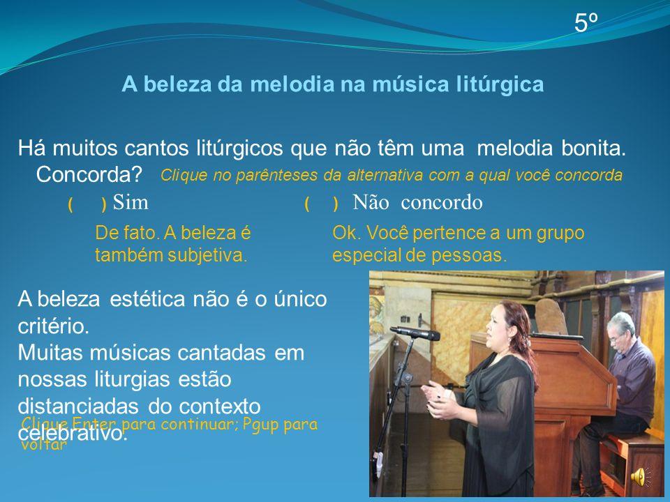 A beleza da melodia na música litúrgica