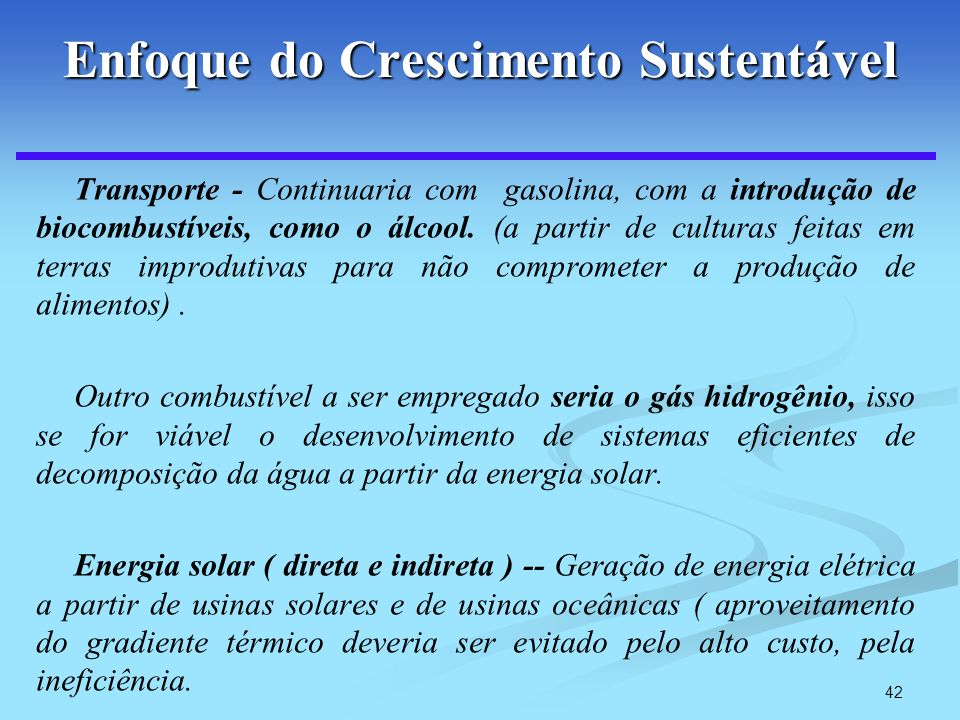 Enfoque do Crescimento Sustentável
