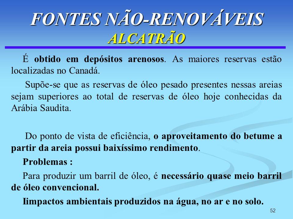 FONTES NÃO-RENOVÁVEIS ALCATRÃO