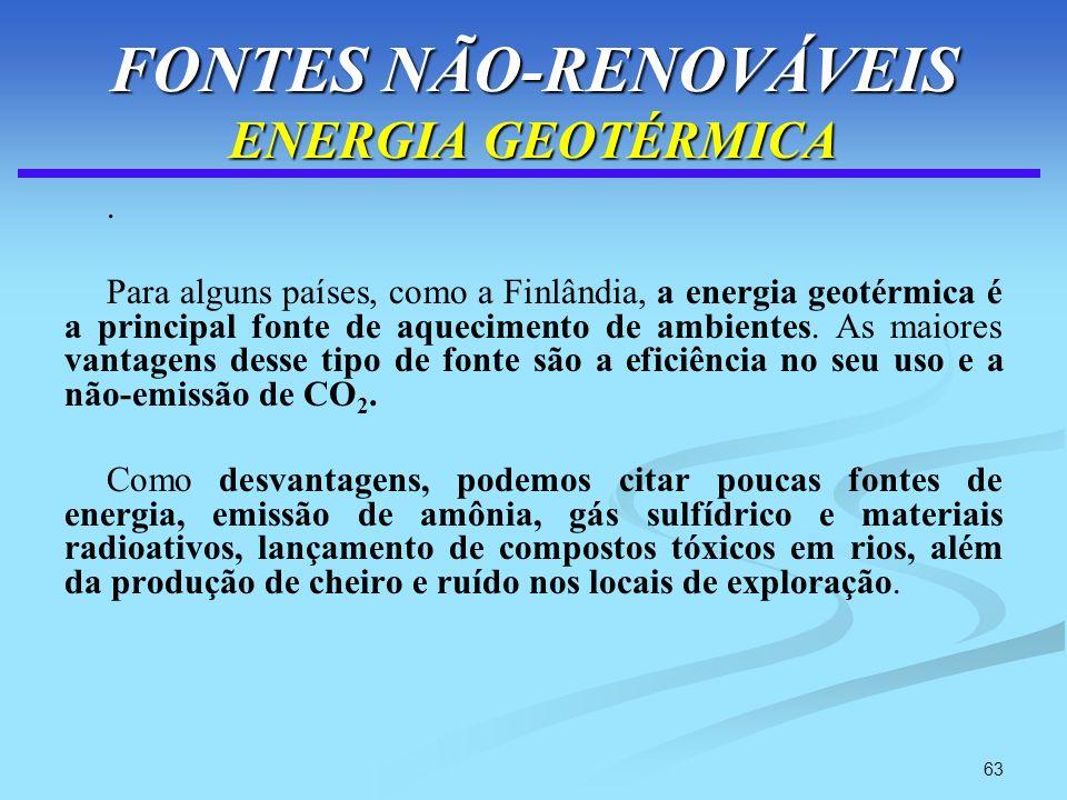 FONTES NÃO-RENOVÁVEIS ENERGIA GEOTÉRMICA