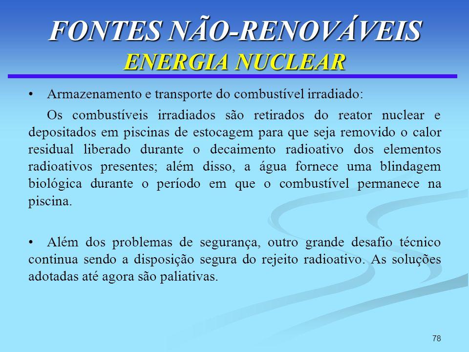 FONTES NÃO-RENOVÁVEIS ENERGIA NUCLEAR