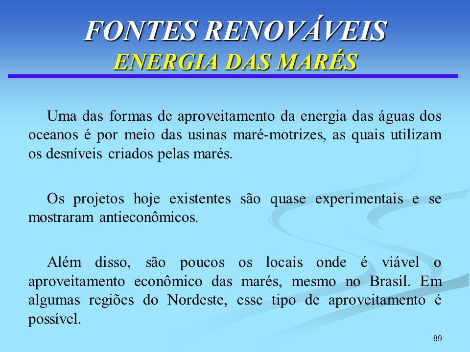 FONTES RENOVÁVEIS ENERGIA DAS MARÉS