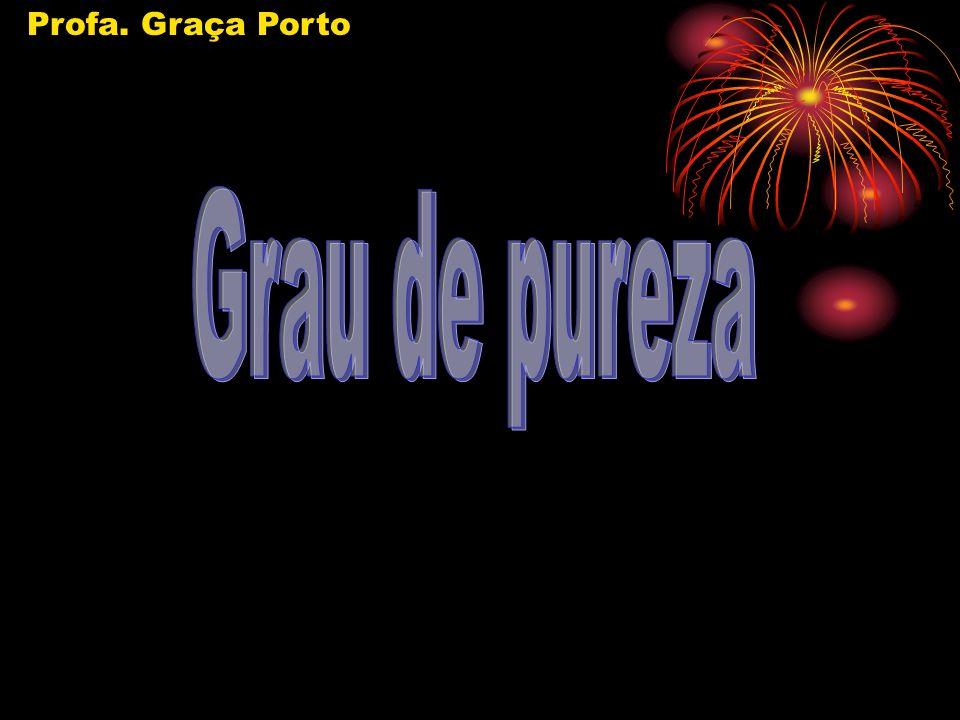 Profa. Graça Porto Grau de pureza