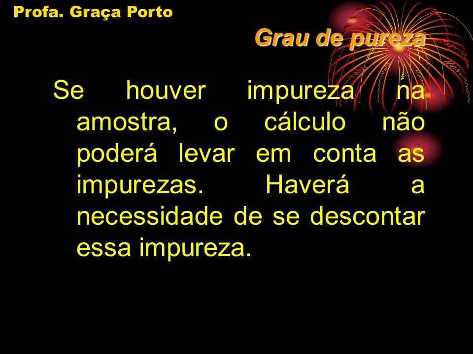 Profa. Graça Porto Grau de pureza.