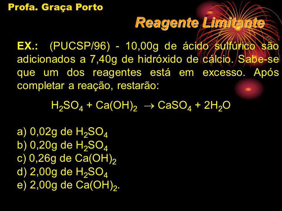 Profa. Graça Porto Reagente Limitante.