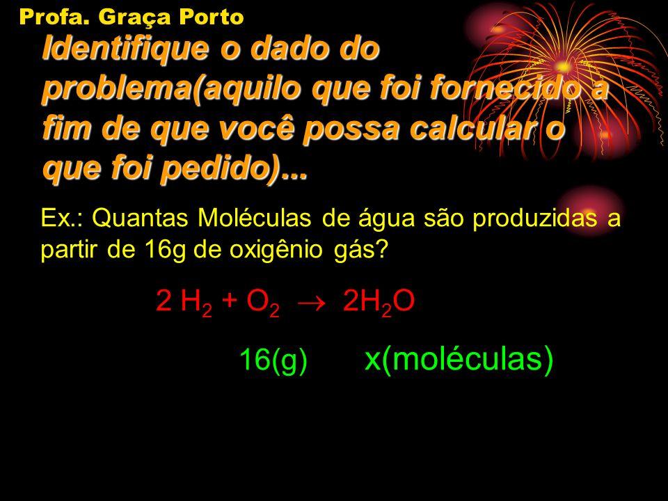 Profa. Graça Porto Identifique o dado do problema(aquilo que foi fornecido a fim de que você possa calcular o que foi pedido)...
