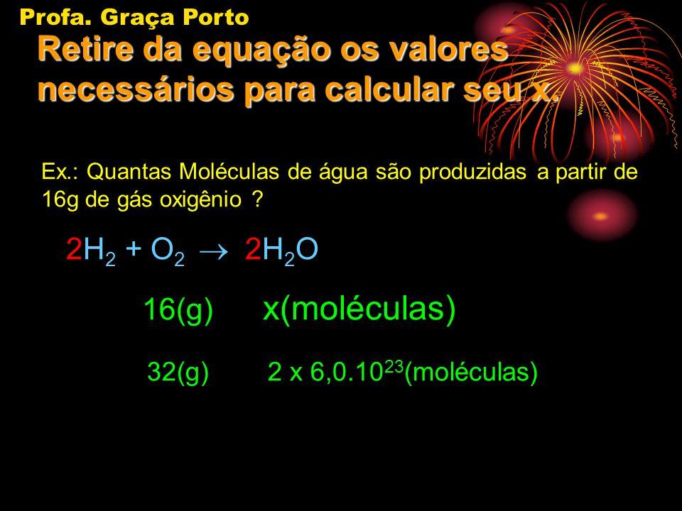Retire da equação os valores necessários para calcular seu x.
