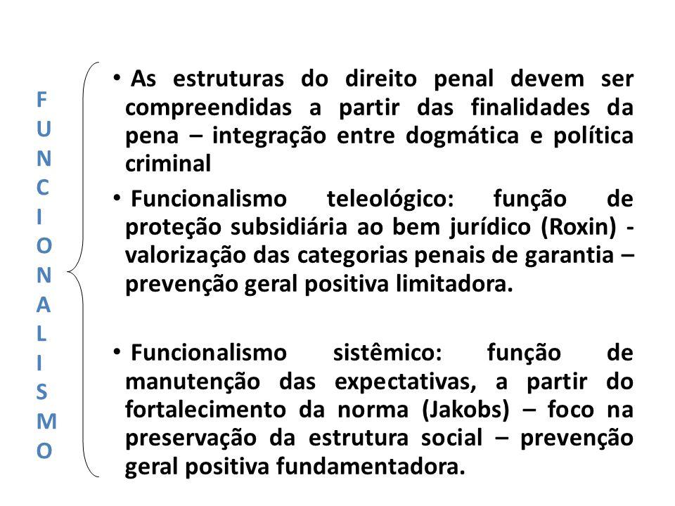 As estruturas do direito penal devem ser compreendidas a partir das finalidades da pena – integração entre dogmática e política criminal
