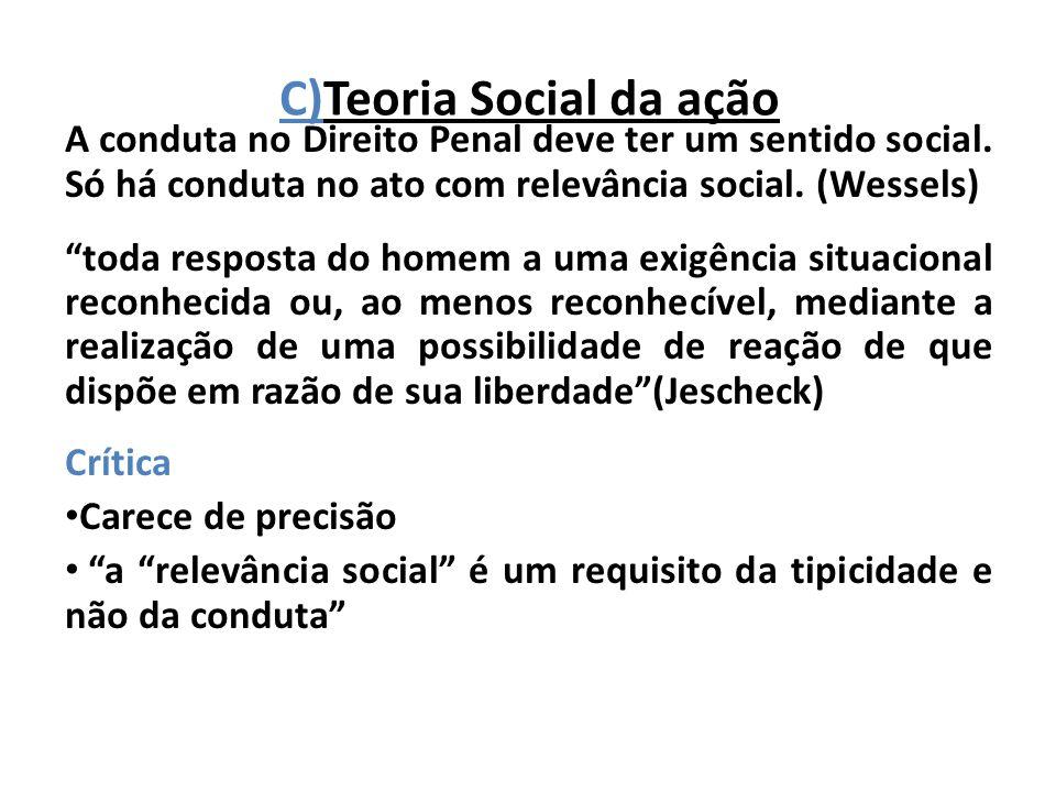 C)Teoria Social da ação