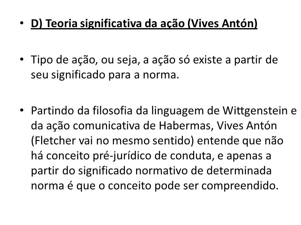 D) Teoria significativa da ação (Vives Antón)