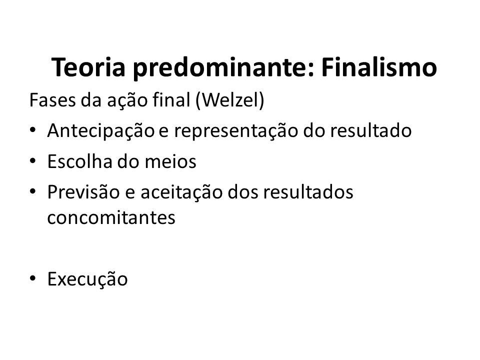 Teoria predominante: Finalismo