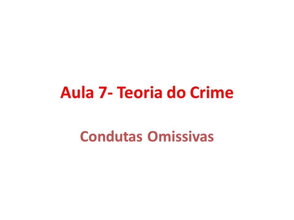 Aula 7- Teoria do Crime Condutas Omissivas