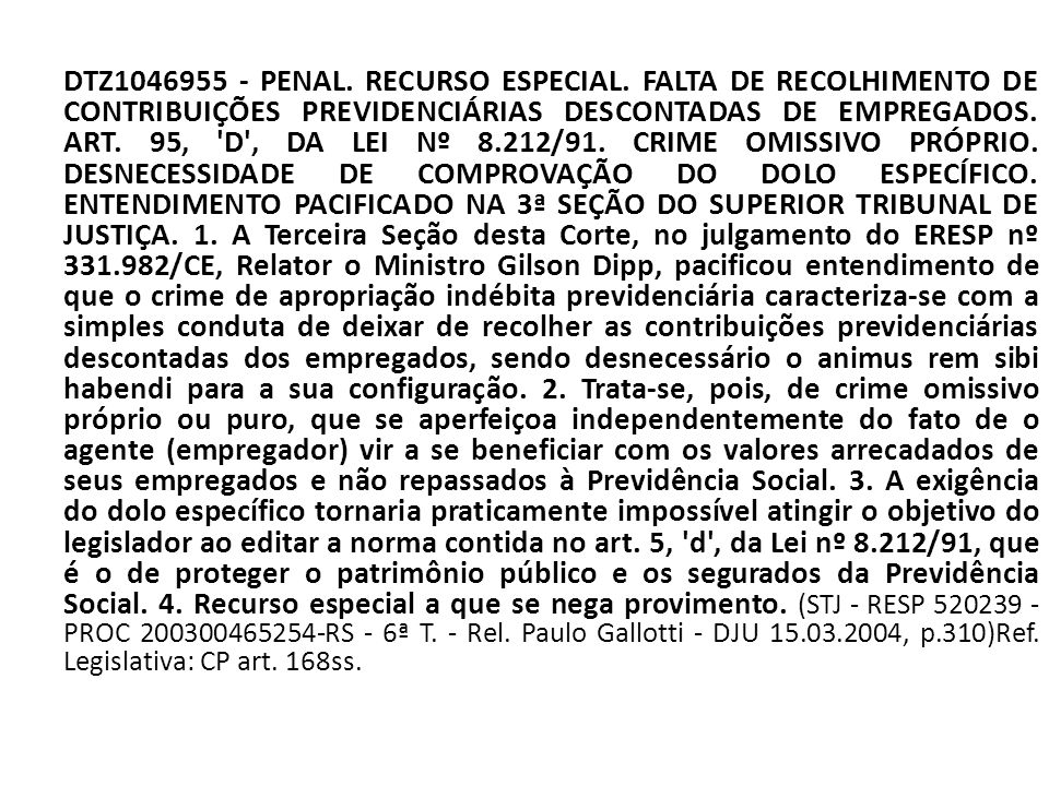 DTZ1046955 - PENAL. RECURSO ESPECIAL