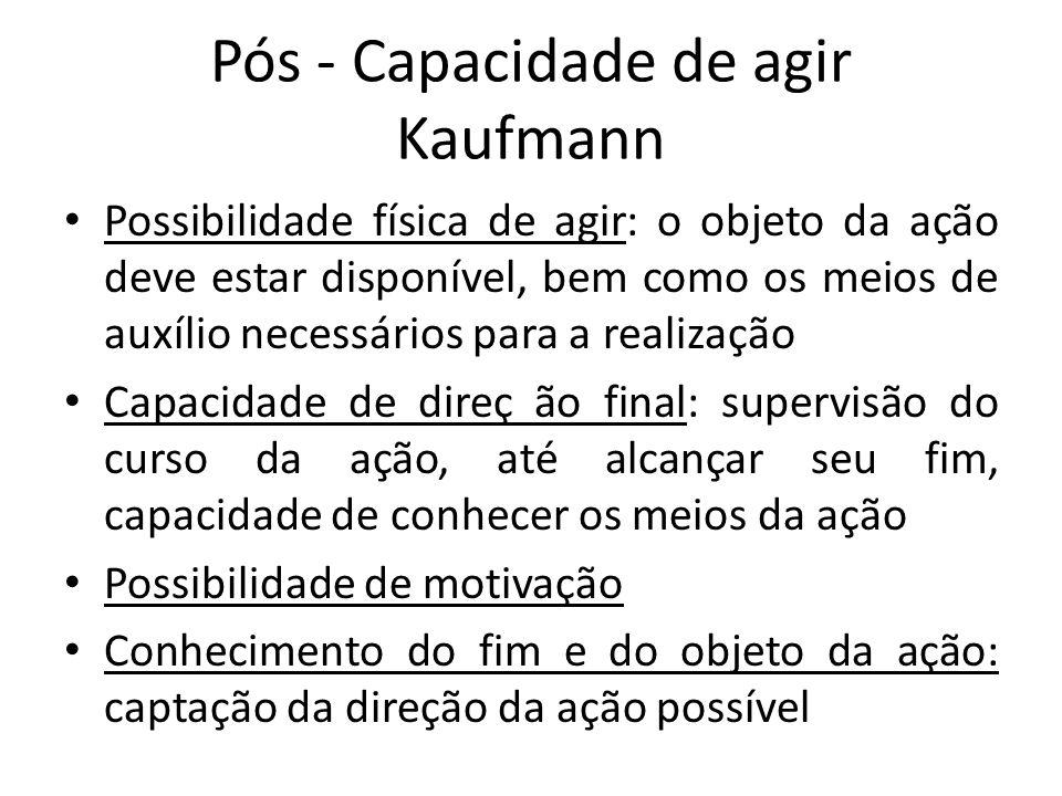 Pós - Capacidade de agir Kaufmann