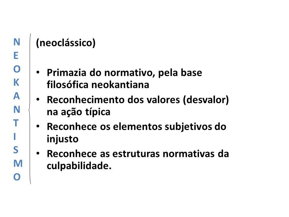 N E. O. K. A. T. I. S. M. (neoclássico) Primazia do normativo, pela base filosófica neokantiana.
