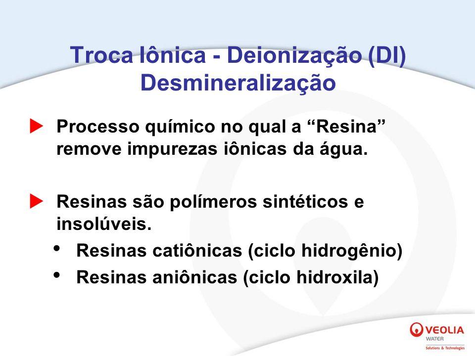 Troca Iônica - Deionização (DI) Desmineralização