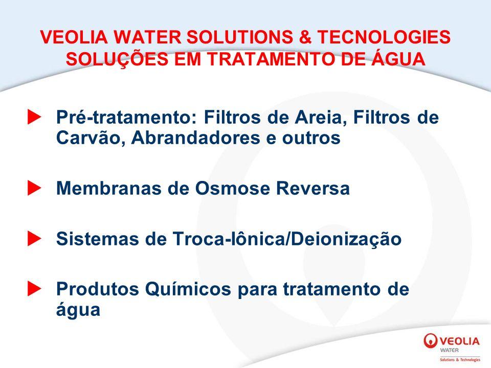VEOLIA WATER SOLUTIONS & TECNOLOGIES SOLUÇÕES EM TRATAMENTO DE ÁGUA