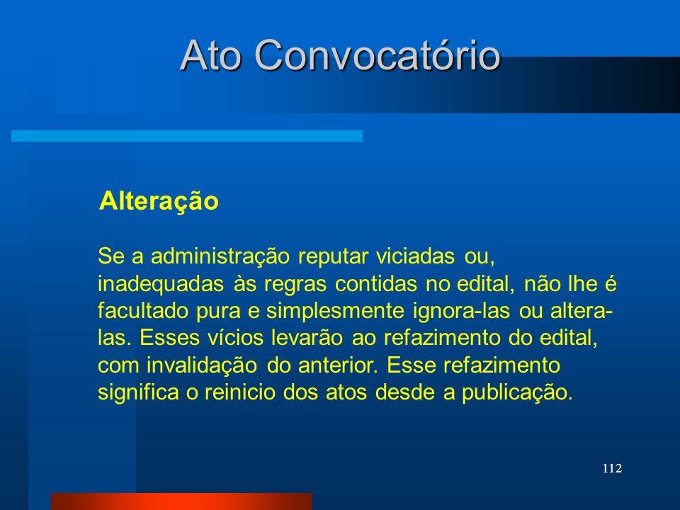 Ato Convocatório Alteração