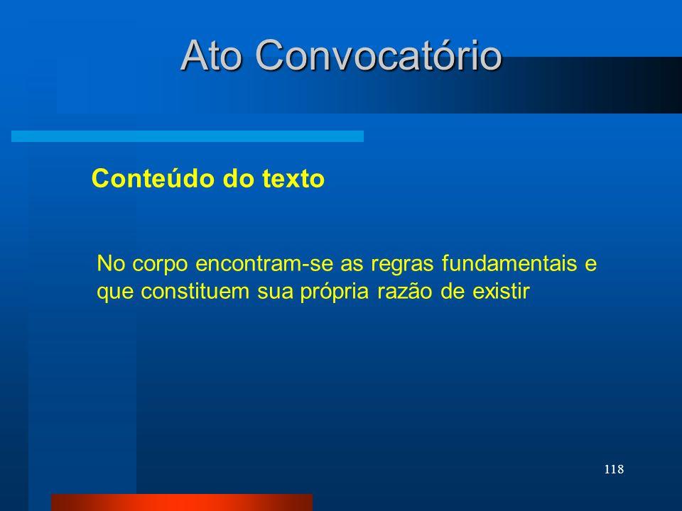 Ato Convocatório Conteúdo do texto