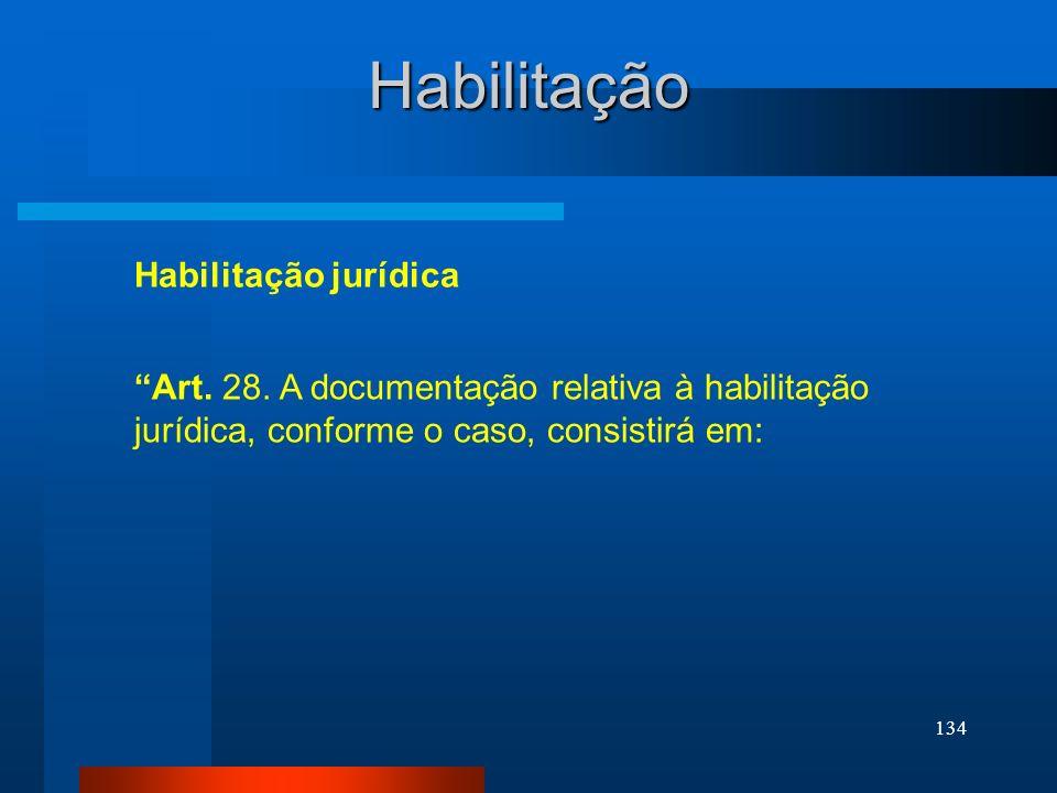 Habilitação Habilitação jurídica