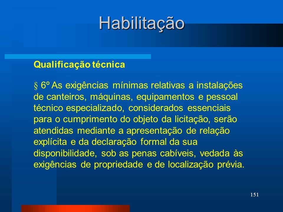 Habilitação Qualificação técnica