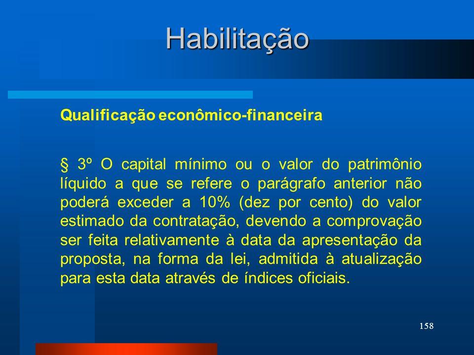 Habilitação Qualificação econômico-financeira