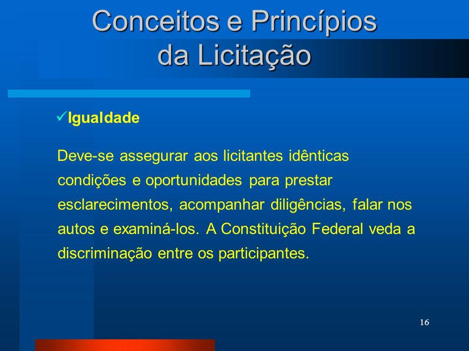 Conceitos e Princípios da Licitação