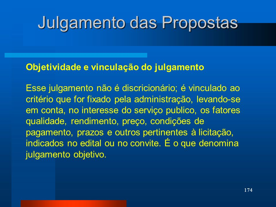 Julgamento das Propostas