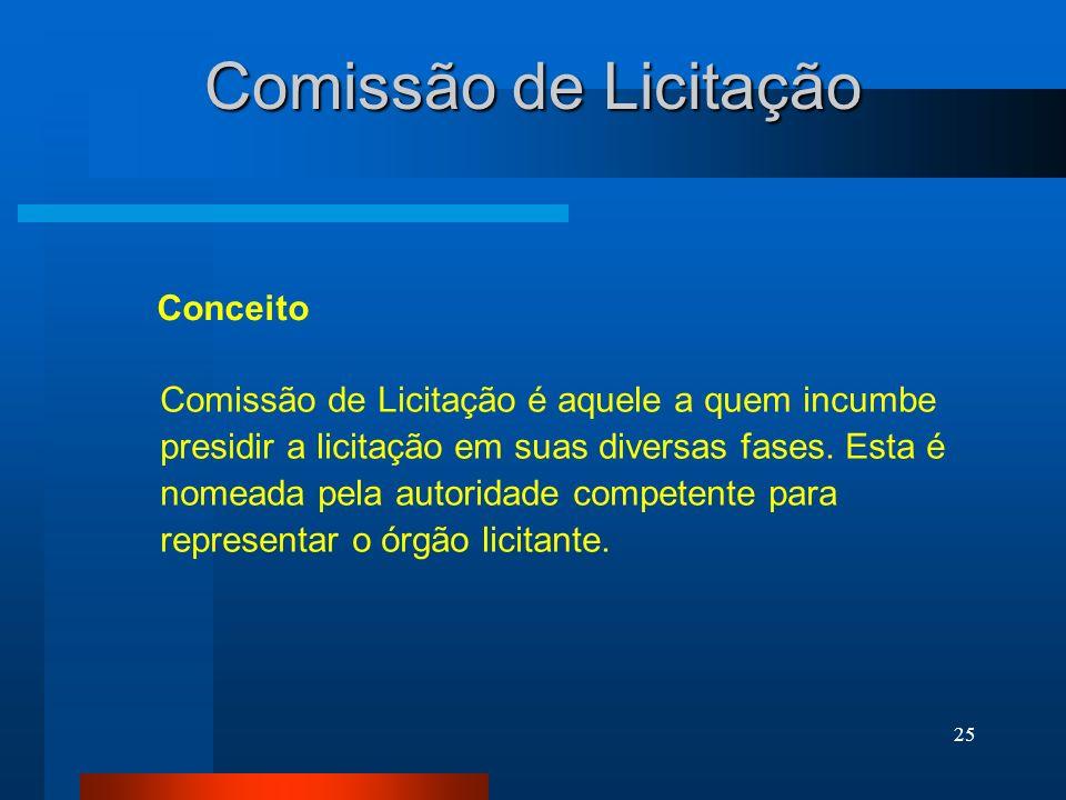 Comissão de Licitação Conceito