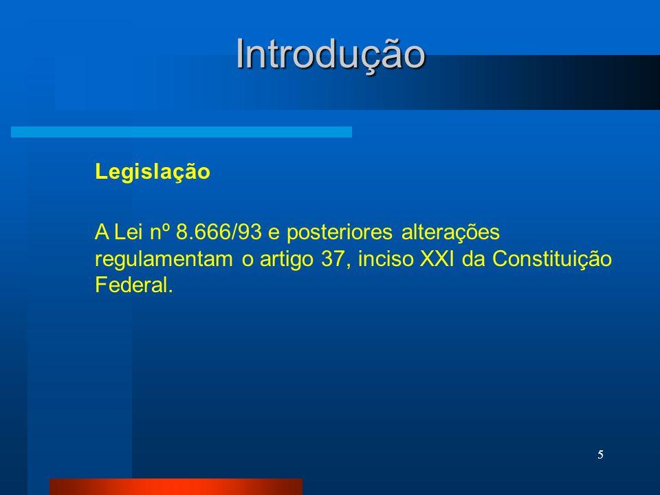 Introdução Legislação