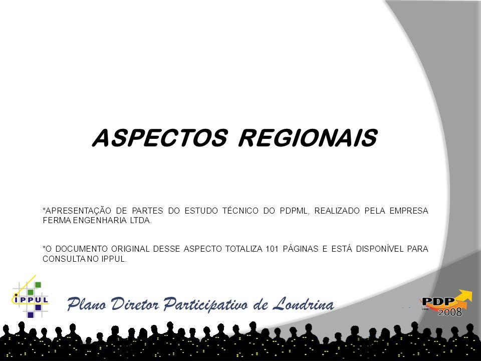 ASPECTOS REGIONAIS Plano Diretor Participativo de Londrina